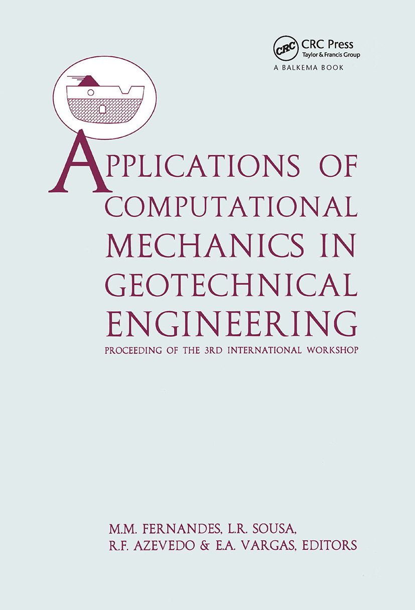 Applications of Computational Mechanics in Geotechnical Engineering: 1st Edition (Hardback) book cover