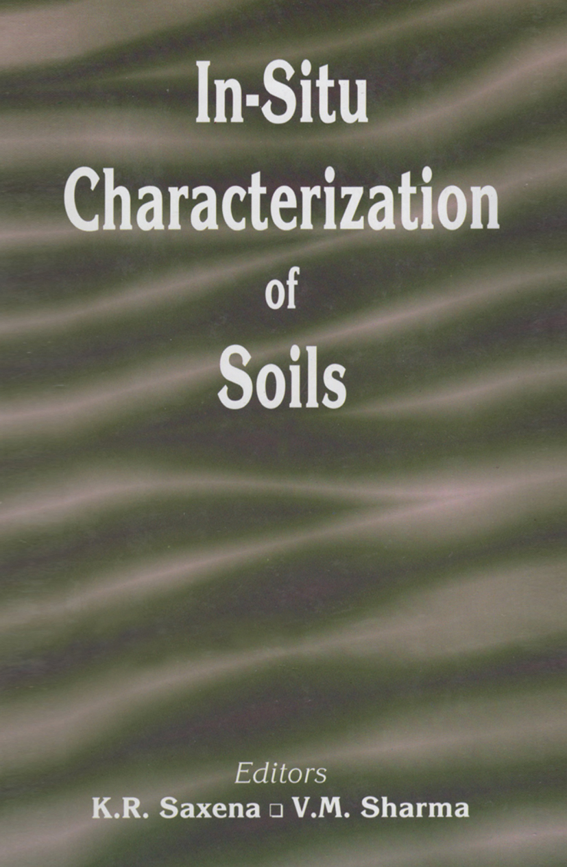 In-situ Characterization of Soils: 1st Edition (Hardback) book cover