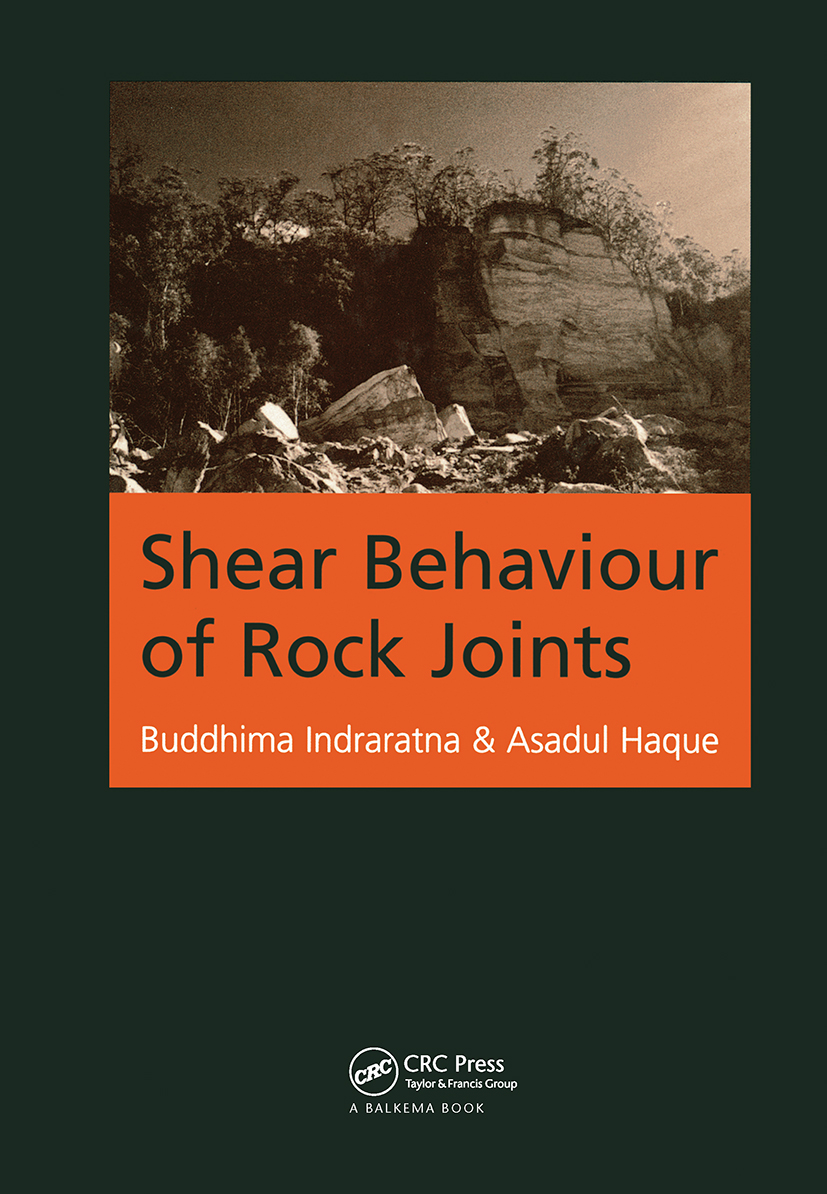 Shear Behaviour of Rock Joints: 1st Edition (Paperback) book cover