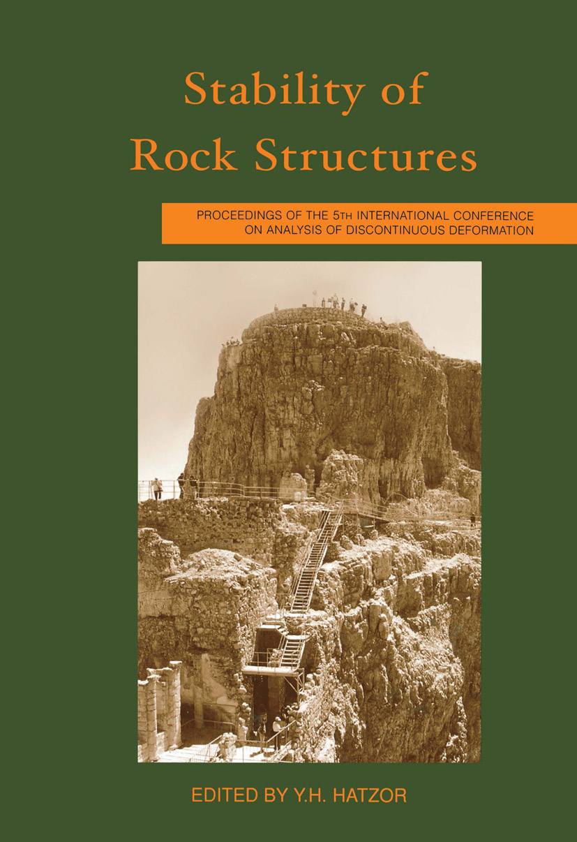 Stability of Rock Structures: Proceedings of the 5th International Conference ICADD-5, Ben Gurion University, Beer-Sheva, Israel, 6-10 October 2002, 1st Edition (Hardback) book cover