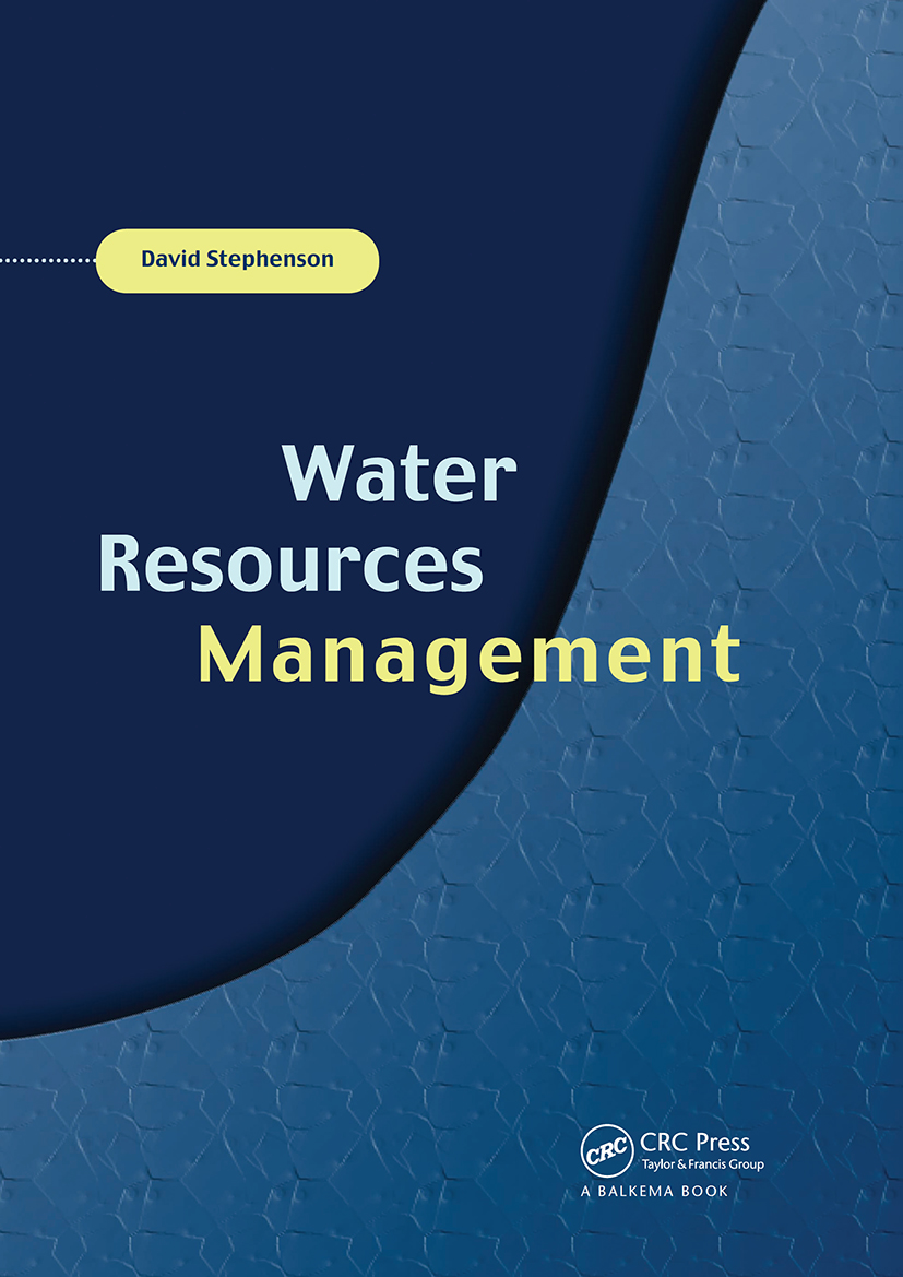 Water Resources Management: 1st Edition (Hardback) book cover