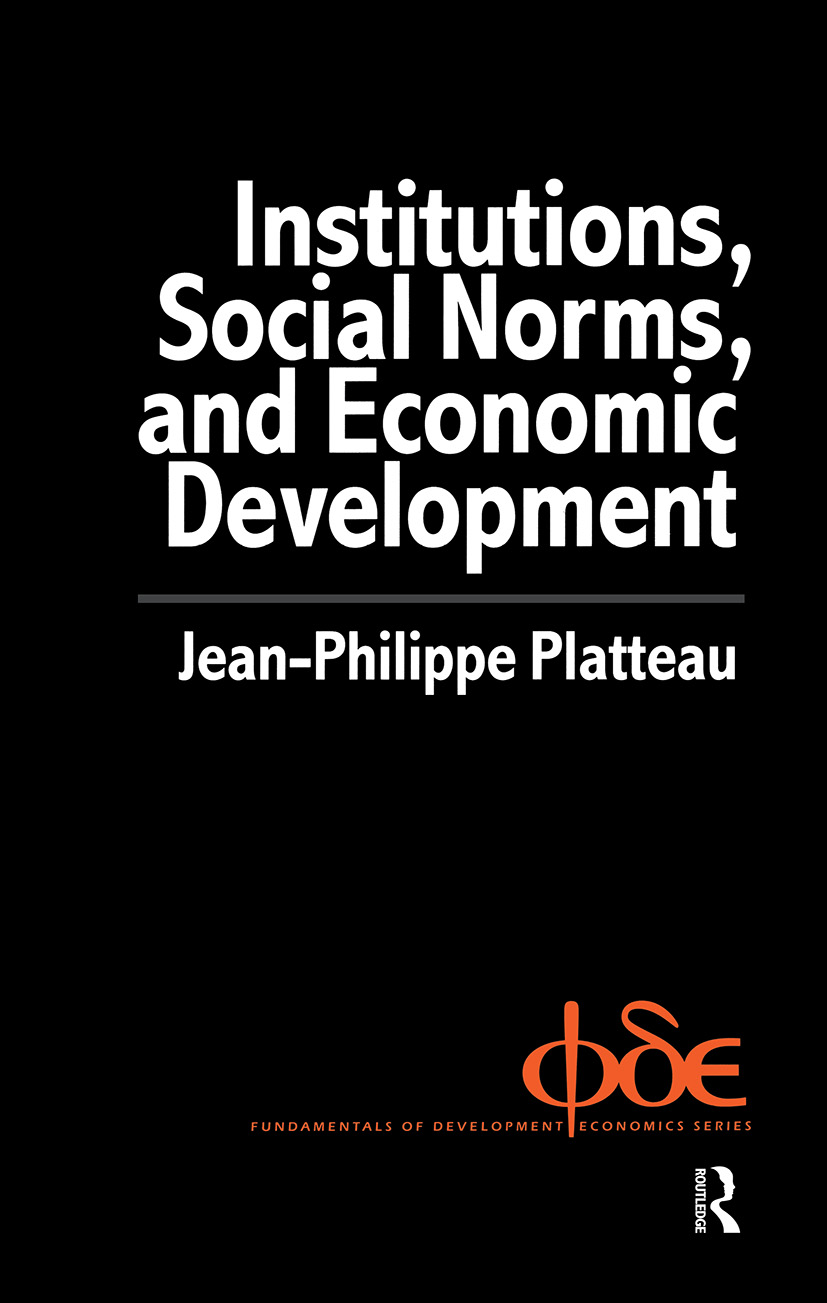 Institutions, Social Norms and Economic Development: 1st Edition (Hardback) book cover