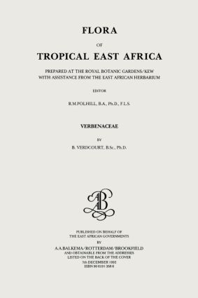 Flora of Tropical East Africa - Verbenaceae (1992): 1st Edition (Paperback) book cover