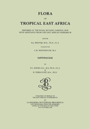 Flora of Tropical East Africa - Sapindaceae (1998): 1st Edition (e-Book) book cover