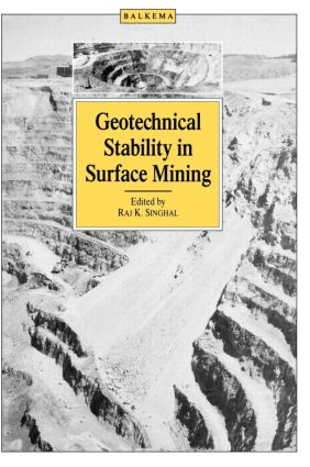 Geotechnical Stability in Surface Mining: 1st Edition (Hardback) book cover