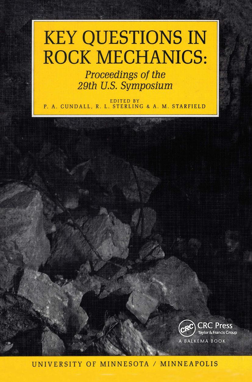 Key Questions in Rock Mechanics: Proceedings of the 29th US Symposium on Rock Mechanics, 1st Edition (Hardback) book cover