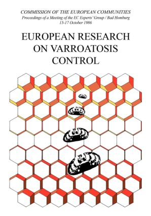 European Research on Varroatosis Control: 1st Edition (Hardback) book cover