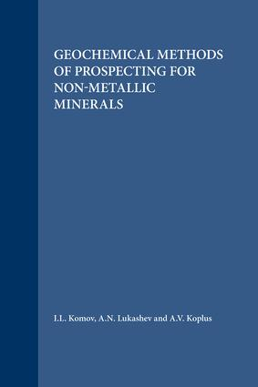 Geochemical Methods of Prospecting for Non-Metallic Minerals: 1st Edition (Hardback) book cover