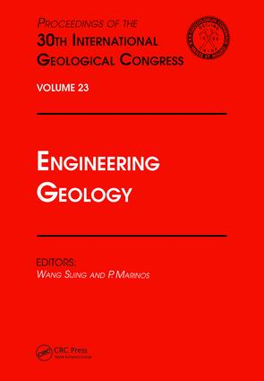 Engineering Geology: Proceedings of the 30th International Geological Congress, Volume 23, 1st Edition (Hardback) book cover