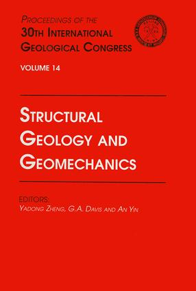 Structural Geology and Geomechanics: Proceedings of the 30th International Geological Congress, Volume 14, 1st Edition (Hardback) book cover
