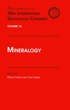 Mineralogy: Proceedings of the 30th International Geological Congress, Volume 16, 1st Edition (Hardback) book cover