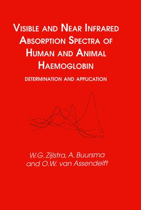 Visible and Near Infrared Absorption Spectra of Human and Animal Haemoglobin determination and application: 1st Edition (Hardback) book cover