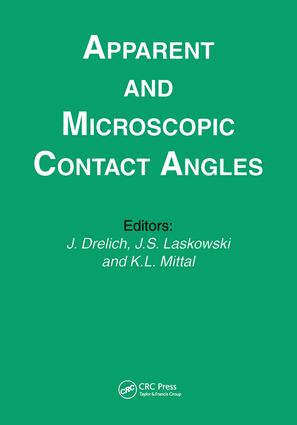 Apparent and Microscopic Contact Angles: 1st Edition (Hardback) book cover