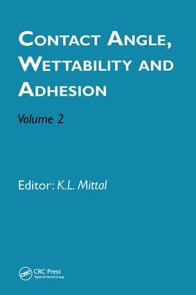 Contact Angle, Wettability and Adhesion, Volume 2: 1st Edition (Hardback) book cover
