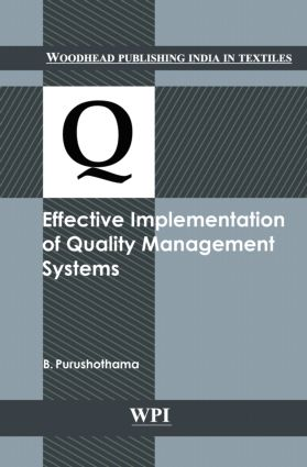 Effective Implementation of Quality Management Systems: 1st Edition (Hardback) book cover
