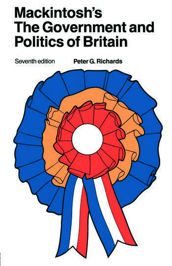 Mackintosh's The Government and Politics of Britain book cover