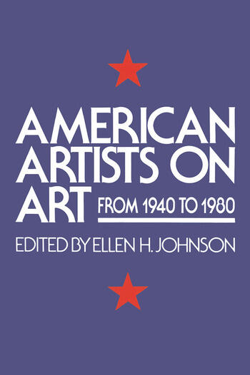 American Artists On Art From 1940 To 1980 book cover