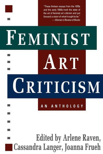 Feminist Art Criticism An Anthology book cover