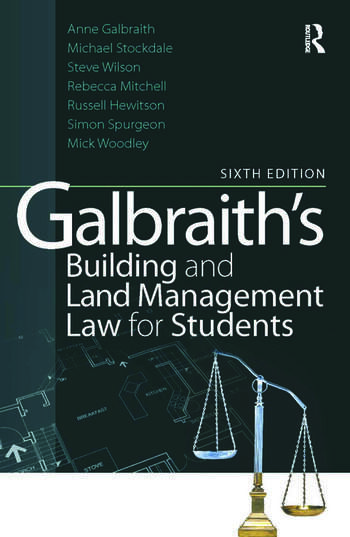 Galbraith's Building and Land Management Law for Students book cover