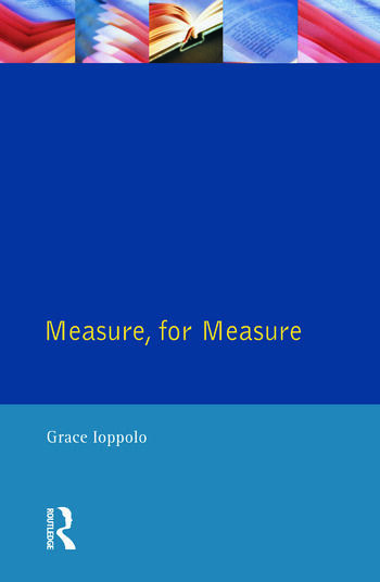 Measure For Measure The Folio of 1623 book cover