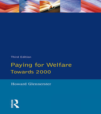 Paying For Welfare Towards 2000 book cover