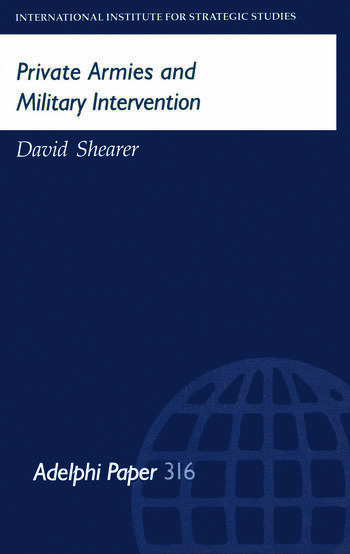 Private Armies and Military Intervention book cover