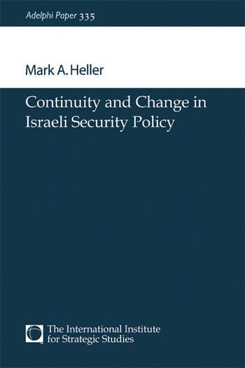 Continuity and Change in Israeli Security Policy book cover