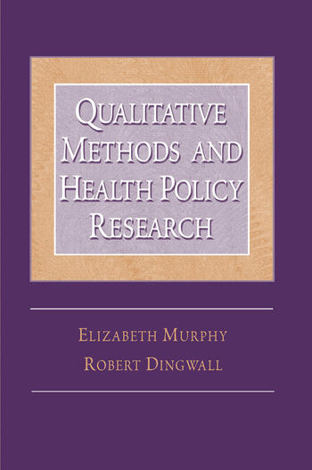 Qualitative Methods and Health Policy Research book cover