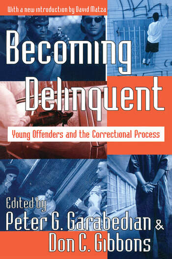 Becoming Delinquent Young Offenders and the Correctional Process book cover