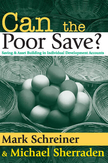 Can the Poor Save? Saving and Asset Building in Individual Development Accounts book cover