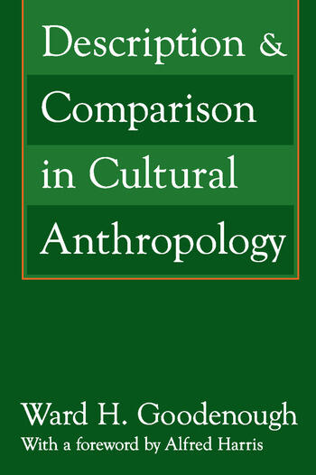 Description and Comparison in Cultural Anthropology book cover