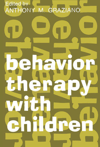 Behavior Therapy with Children Volume 1 book cover
