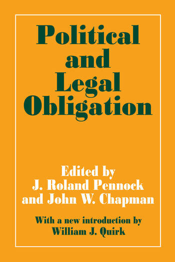Political and Legal Obligation book cover