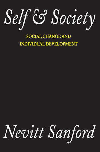 Self and Society Social Change and Individual Development book cover