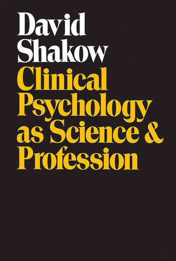 Clinical Psychology as Science and Profession book cover