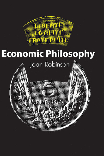 Economic Philosophy book cover
