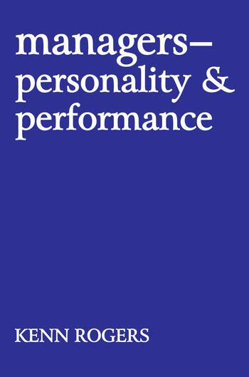 Managers Personality and Performance book cover