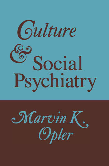 Culture and Social Psychiatry book cover