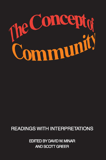 The Concept of Community Readings with Interpretations book cover