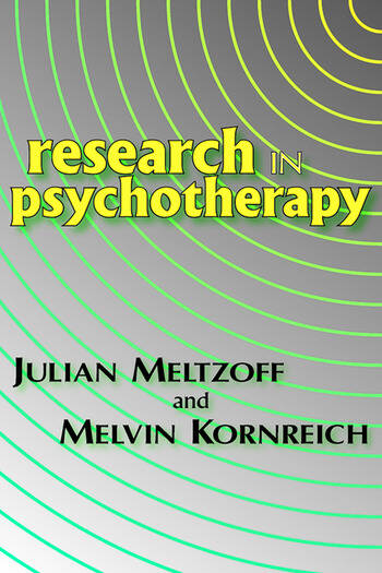 Research in Psychotherapy book cover