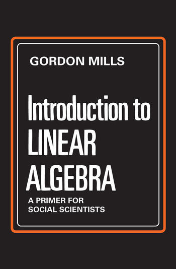 Introduction to Linear Algebra A Primer for Social Scientists book cover