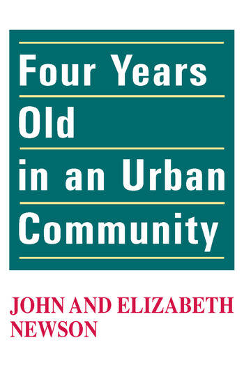Four Years Old in an Urban Community book cover