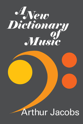 A New Dictionary of Music book cover