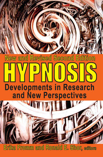Hypnosis Developments in Research and New Perspectives book cover