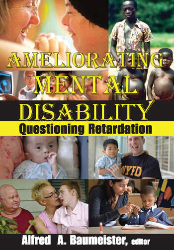 Ameliorating Mental Disability Questioning Retardation book cover