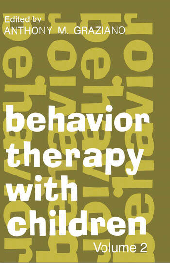 Behavior Therapy with Children Volume 2 book cover
