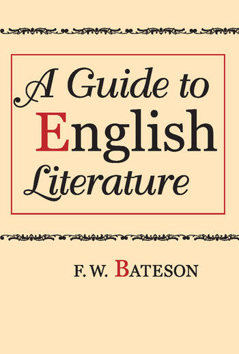 A Guide to English Literature book cover