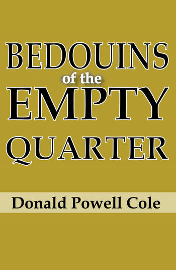 Bedouins of the Empty Quarter book cover