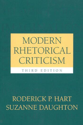 Modern Rhetorical Criticism book cover