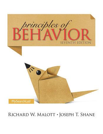 Principles of Behavior Seventh Edition book cover